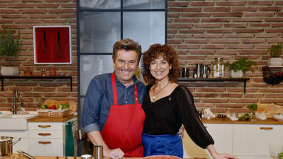 "Thomas Anders und Isabel Varell in ""Koch mal Anders""."