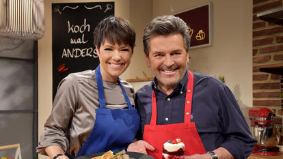 "Thomas Anders und Francine Jordi in ""Koch mal Anders""."